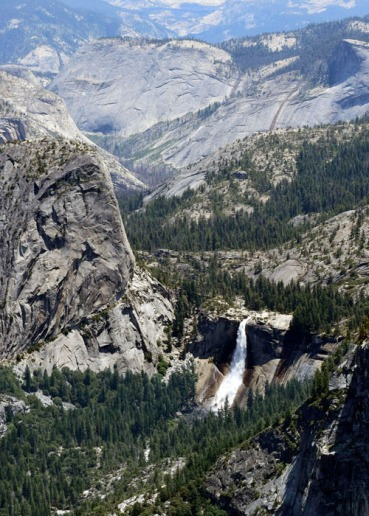 Nevada Fall from Washburn Point.